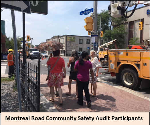 Montreal Road community safety audit participants.