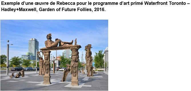 Exemple d'une œuvre de Rebecca pour le programme d'art primé Waterfront Toronto – Hadley+Maxwell, Garden of Future Follies, 2016.
