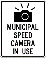 Municipal Speed Camera sign