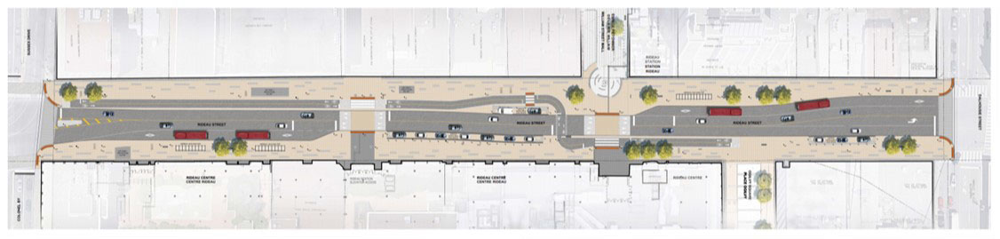 Rendering of Rideau Street and William Street Renewal