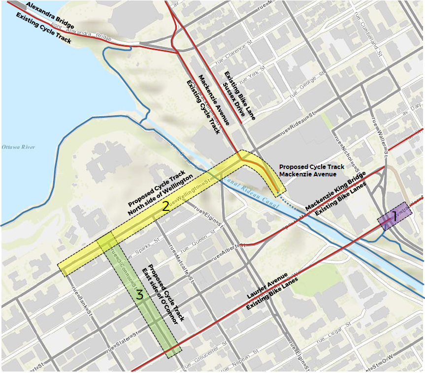 Map of proposed cycle tracks