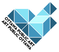Public Art Program logo - blue