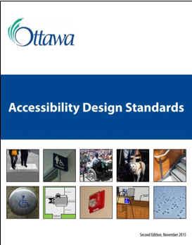 des normes de conception de l'accessibilité de la Ville d'Ottawa.