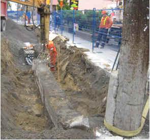 des travaux préliminaires en cours sur la rue Elgin.