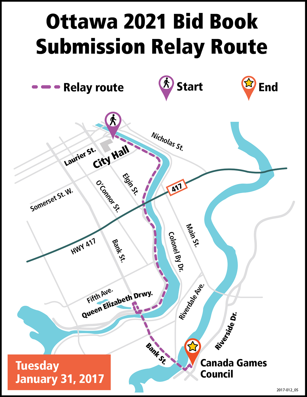 sport community to relay the ottawa 2021 canada summer games bid
