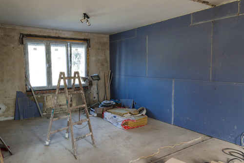 Home renovation underway