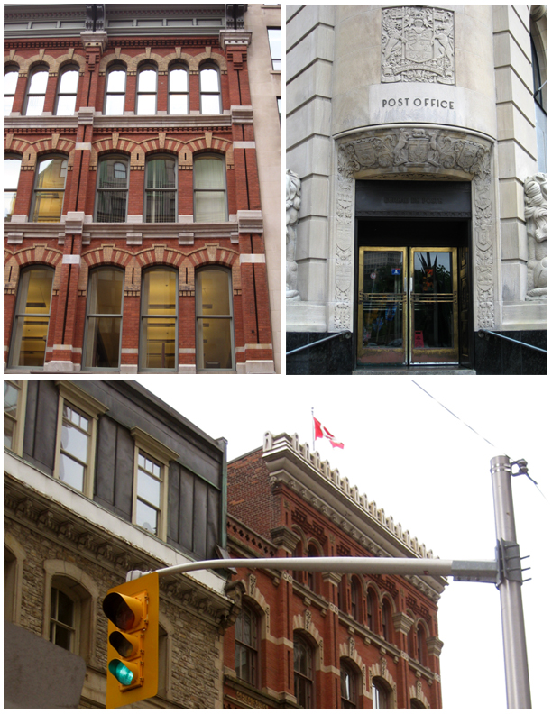 Several buildings in the HCD including the Ottawa Electric Building and the Central Post Office.
