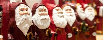 Santa Claus carvings