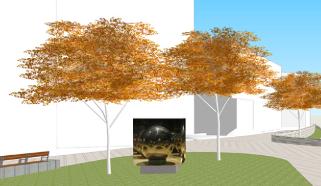 Public art rendering