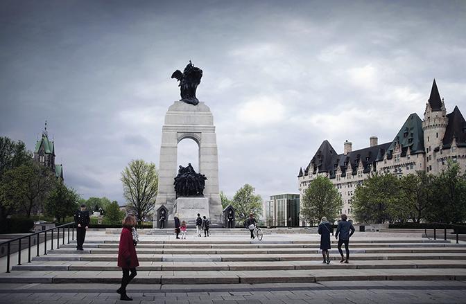 Vue du Monument commémoratif de guerre du Canada