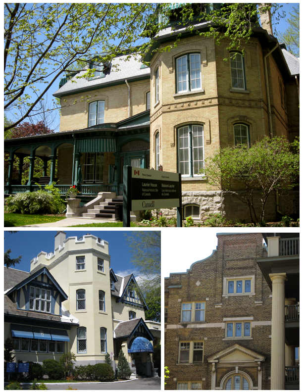 Several large residences in the HCD including Laurier House National Historic Site.