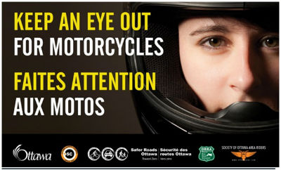 """Keep an Eye Out for Motorcycles"" poster"