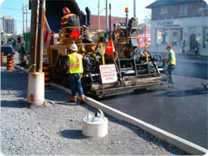 Photograph of road construction on another street within the City of Ottawa.