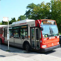 Photograph of an OC Transpo Bus on Main Street.