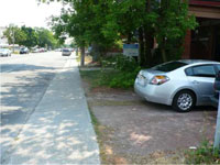 Photograph of front yard parking