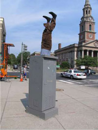 Photograph is an example of a public art project