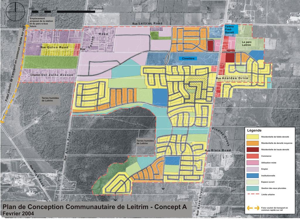 Plan de conception communautaire de leitrim ville d 39 ottawa for Plan de conception de plan