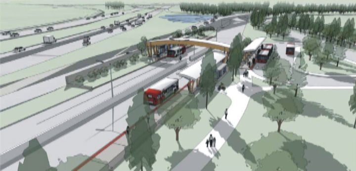 West Transitway extension - Station concept
