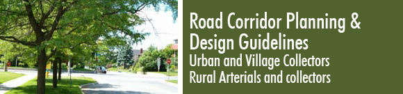 Road Corridor Planning & Design Guidelines