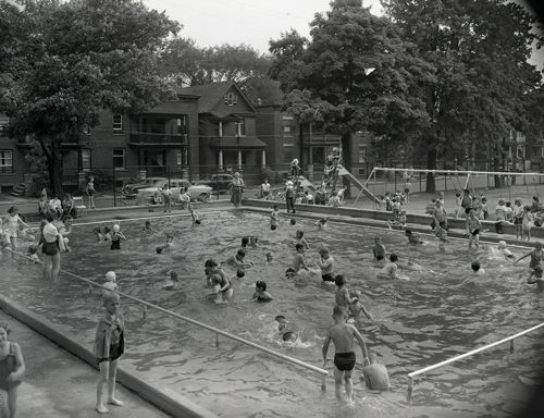 City wading pool seasonal opening in St. Luke's park at the corner of Elgin and Gladstone.