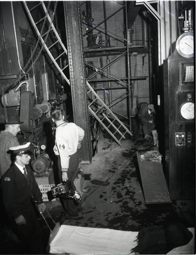 National Research Council explosion. Here is a view of the interior of the building.