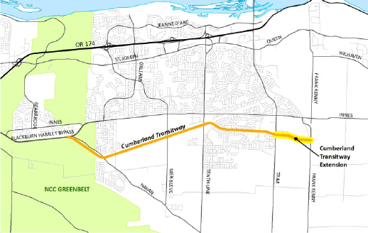 Cumberland Transitway - Trim Road to Frank Kenny Road   City