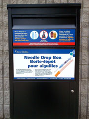 Image of a Needle drop box