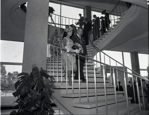 Princess Margaret at New City Hall with Mayor George Nelms.