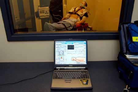 Advanced training technologies, such as this human simulation unit, keep Ottawa's paramedics ready for any emergency situation.