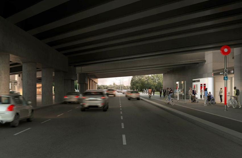 Cette image est une représentation artistique de la conception de Station Montreal. Le produit final peut différer de l'illustration.