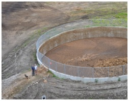 Manure storage tank, after project completion