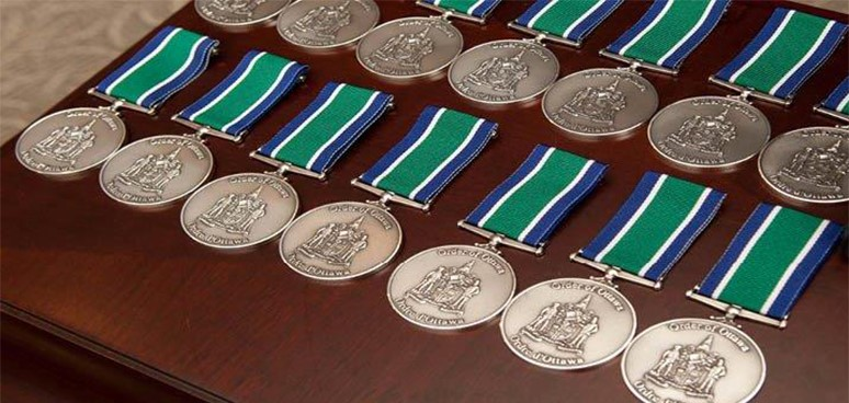 Order of Ottawa medals on display