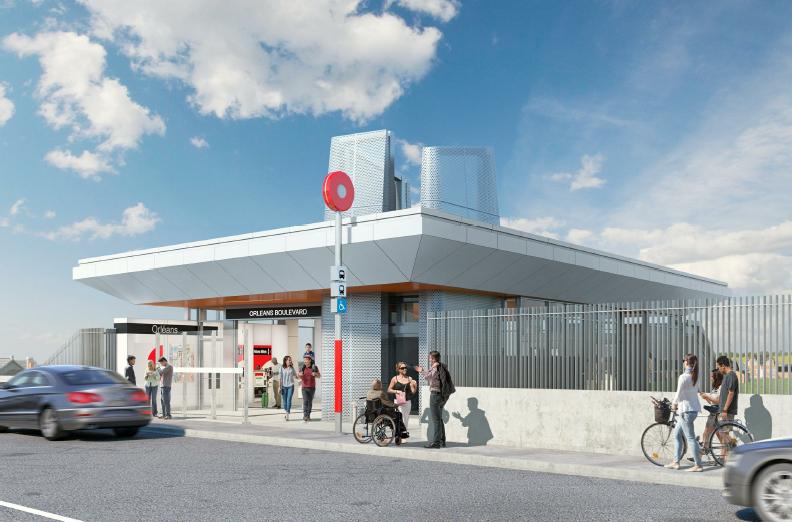 Cette image est une représentation artistique de la conception de Station Convent Glen. Le produit final peut différer de l'illustration