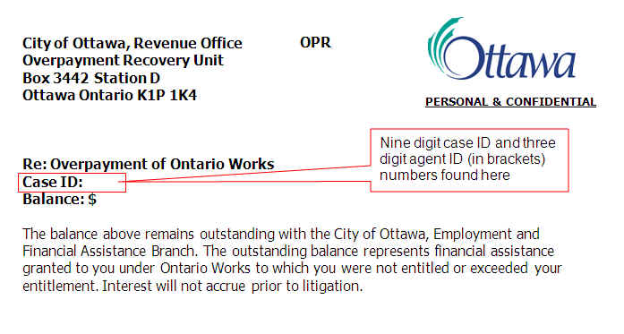make a payment to the city city of ottawa