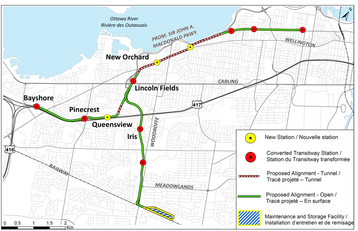Confederation Line West Light Rail Transit Lrt Extension