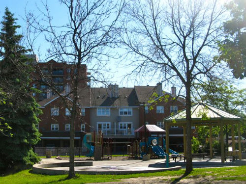 Families can enjoy walking to neighbourhood playgrounds