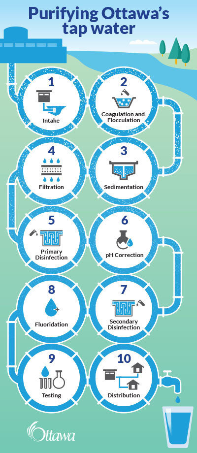 stages of water purification process