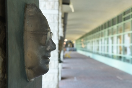 sculpture of a head in profile