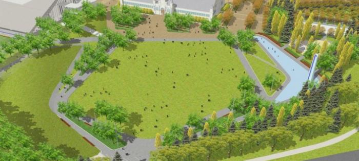 Artist rendering of Lansdowne Park