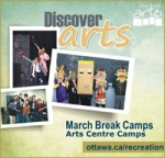 Nepean Creative Arts and Nepean Visual Arts Centre March Break and Summer camps