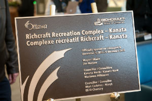 Official Opening Plaque Richcraft Recreation Complex – Kanata