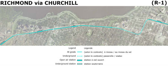 Richmond via Churchill (Blue Line)