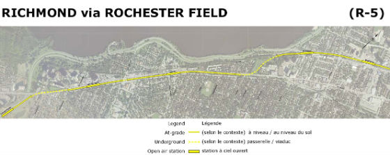 Richmond via Rochester (Yellow Line)