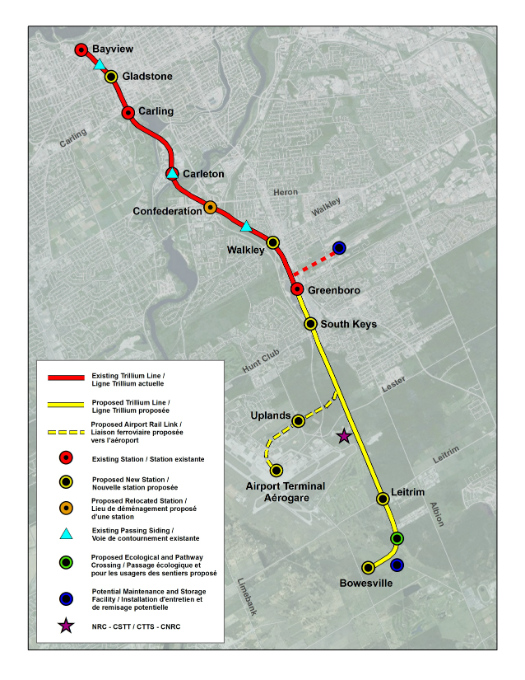 Trillium Line Extension Study Area