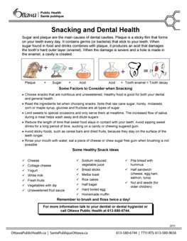 Snacking and Dental Health