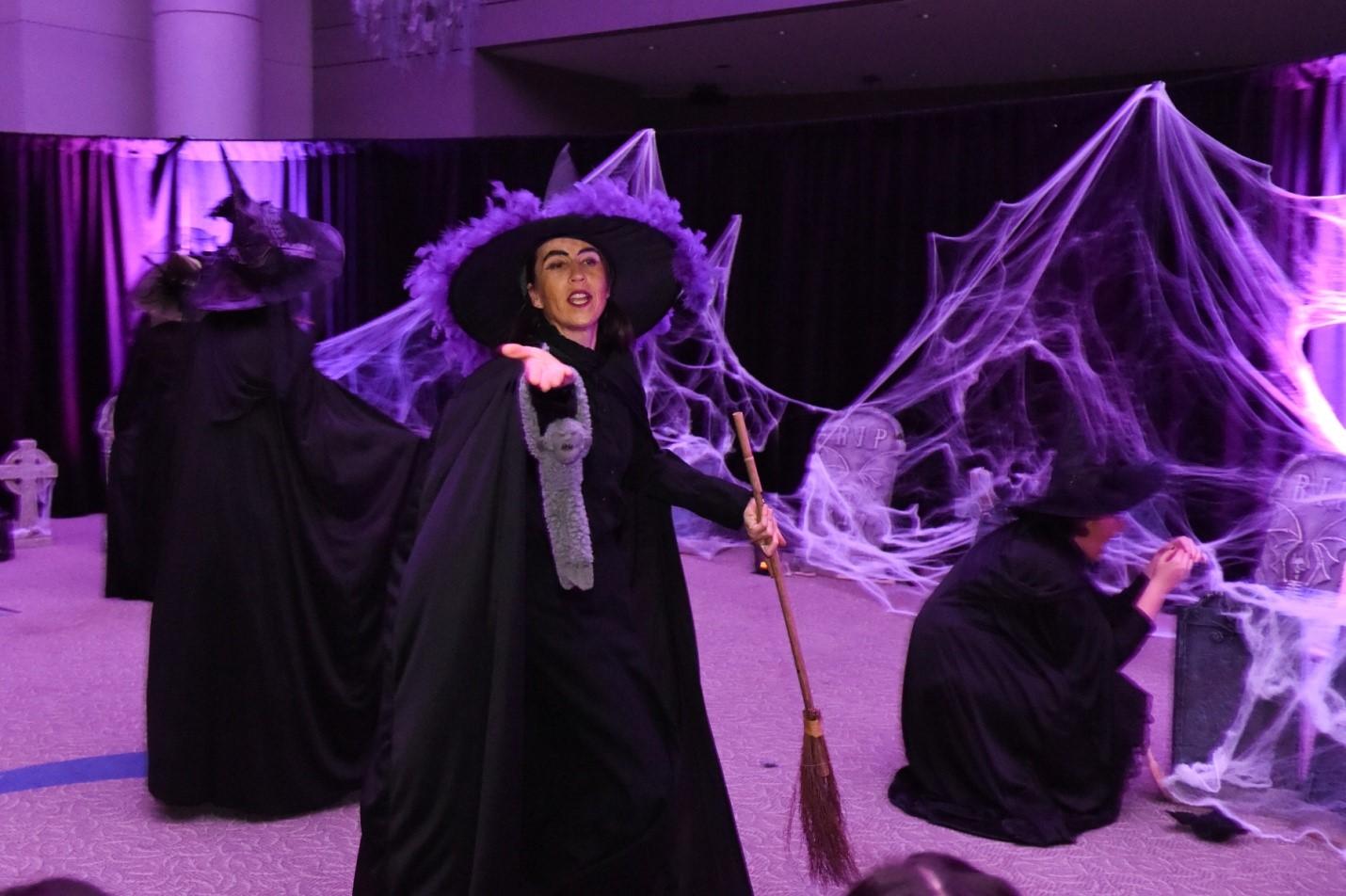Witches around a cauldron
