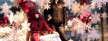 Winter-themed shop window